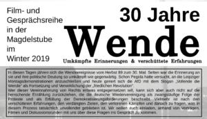 Der Herbst 1989 in Jena in Fotos und Dokumenten | 30 Jahre Wende @ Magdelstube