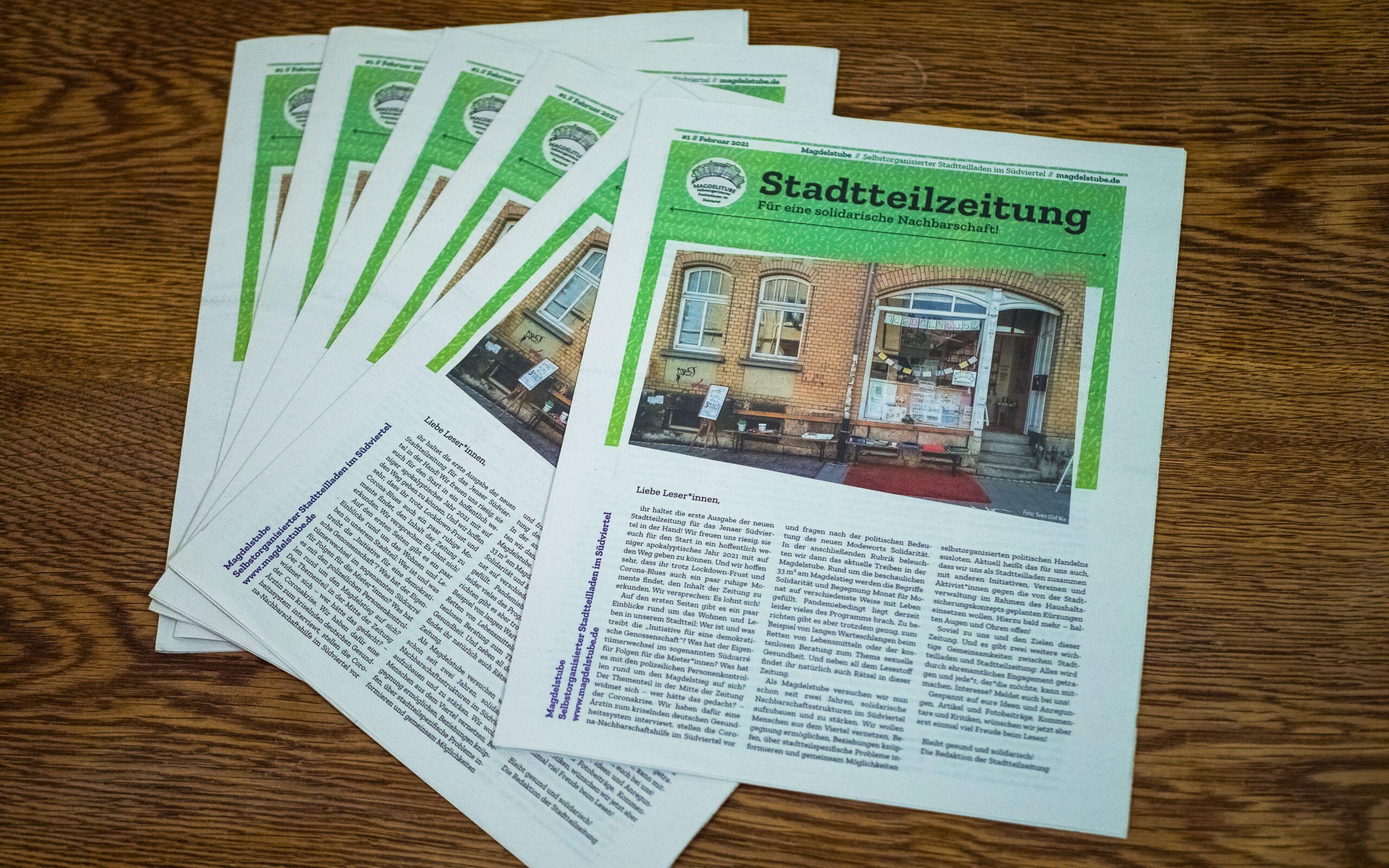So sieht die Stadtteilzeitung aus!